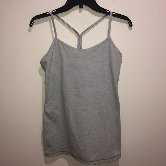 lululemon athletica Tops - Lululemon Size 8 Power Y Racerback Tank Top Gray